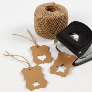 Läderpapper presentetiketter stansmaskin