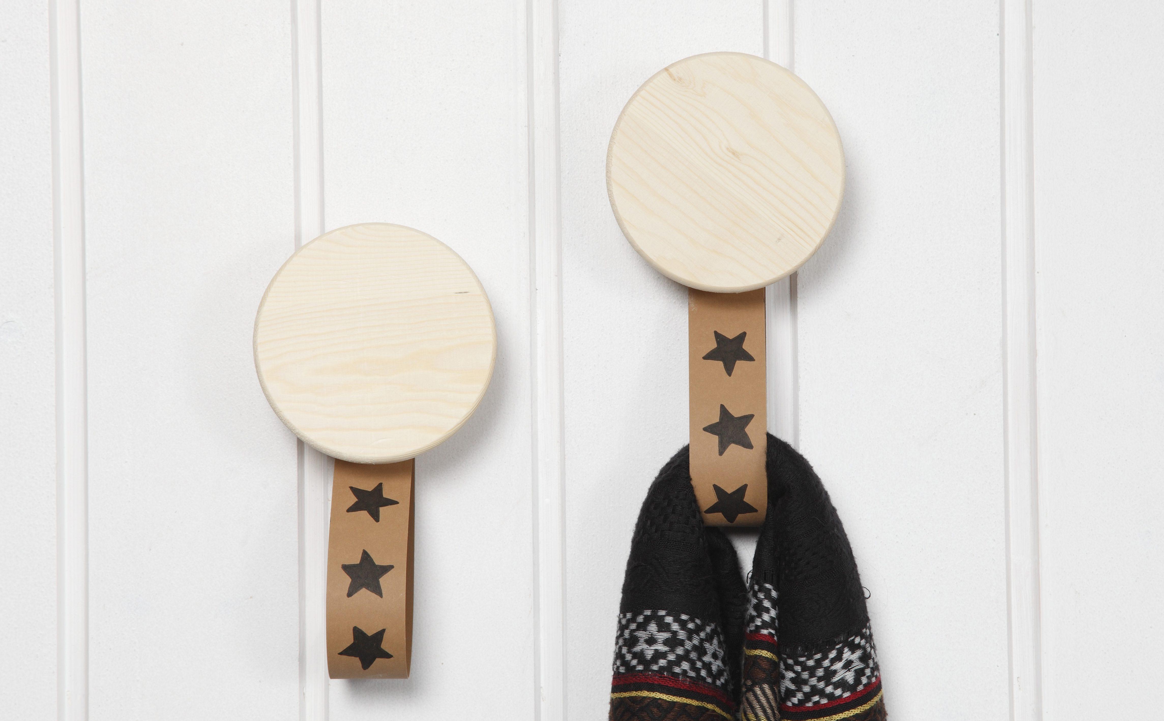 Läderpapper träknoppar idéer