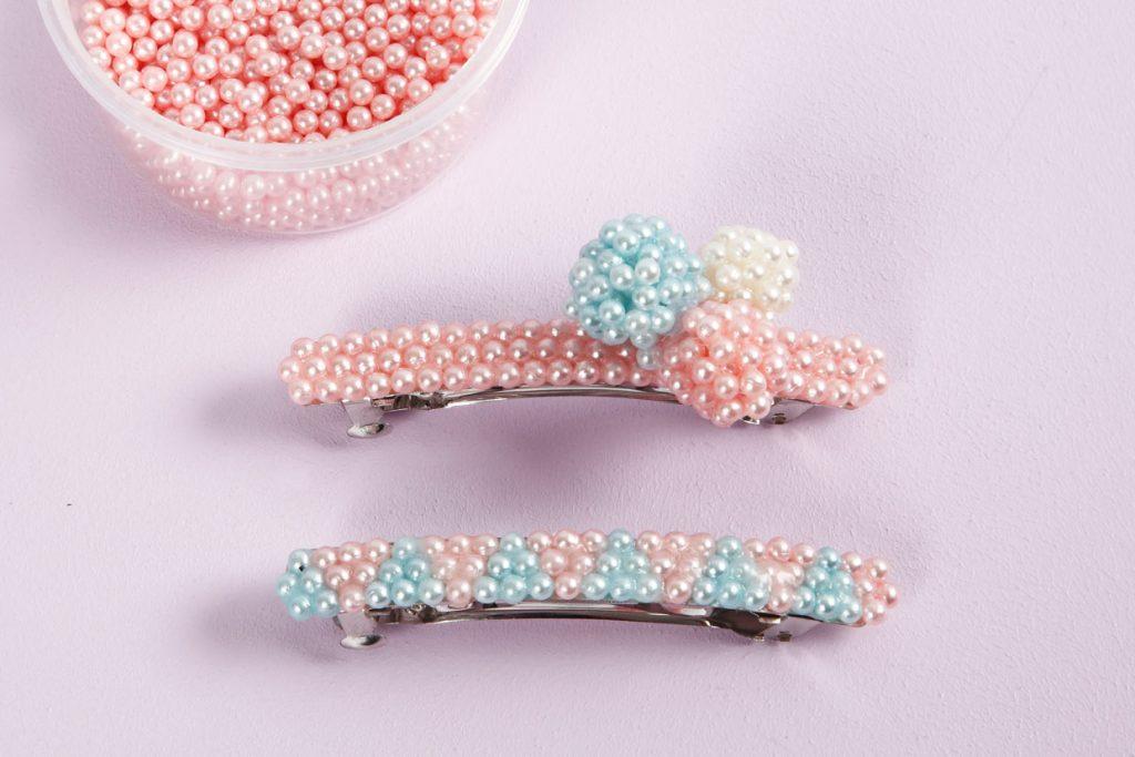 Kreativa idéer med Pearl Clay modellering idé hårspännen gör egna smycken
