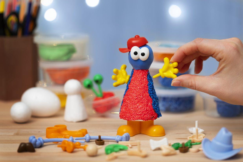 kreativa idéer till barn, inspiration till modellering med tillbehör