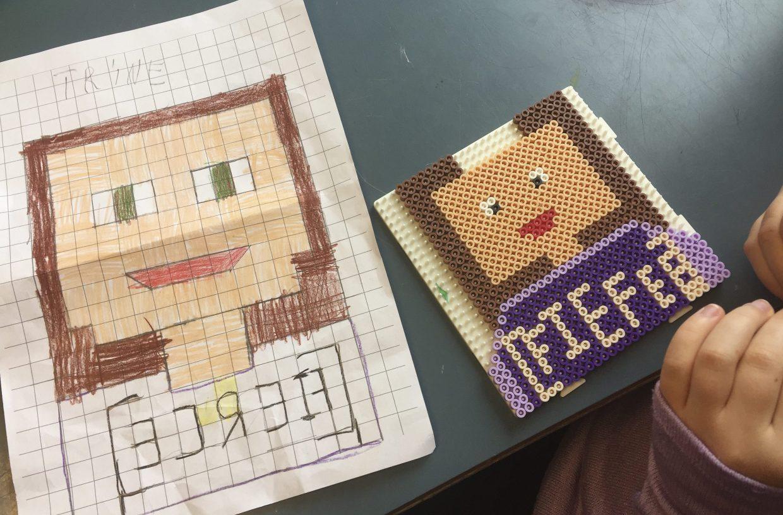 kreativa idéer till barn, pärlor, pixel art