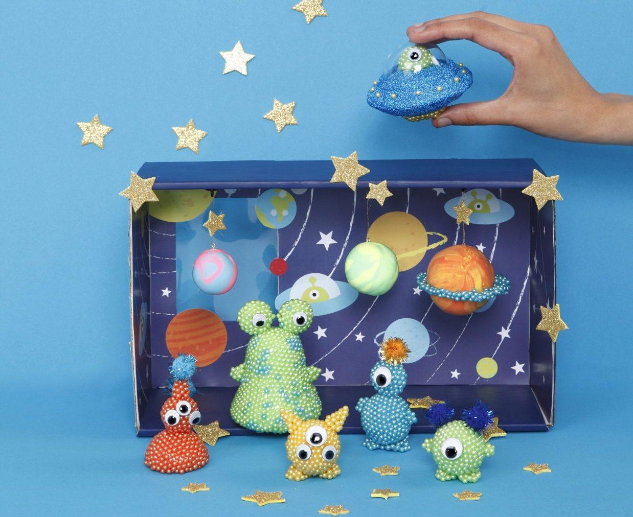 kreativa idéer till barn, utomjordingar, inspiration till modellering