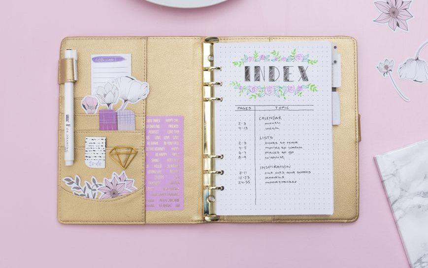 Gör en egen bullet journal och planner - hitta inspiration och idéer här
