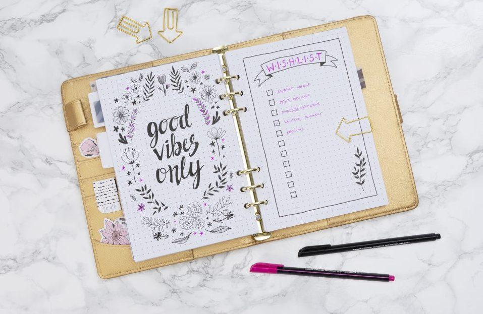 Gör en egen bullet journal och planner med önskelista - hitta inspiration och idéer här