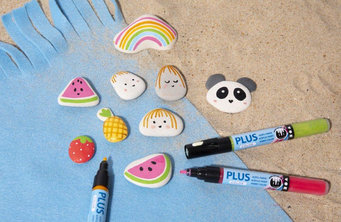 Rolig och kreativ semester med barn - måla på sten