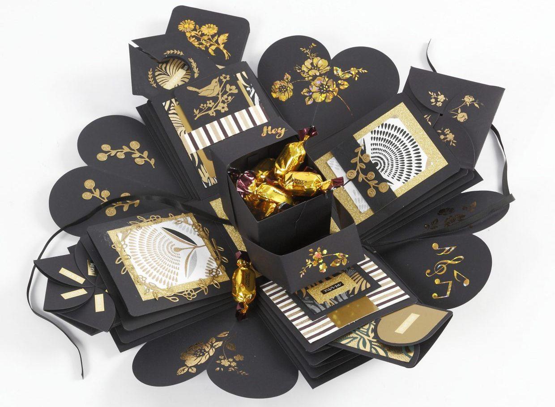 DIY explosion box som kreativa idéer till fest