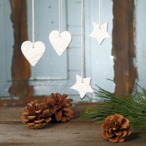 lav selv julepynt med selvhærdende ler