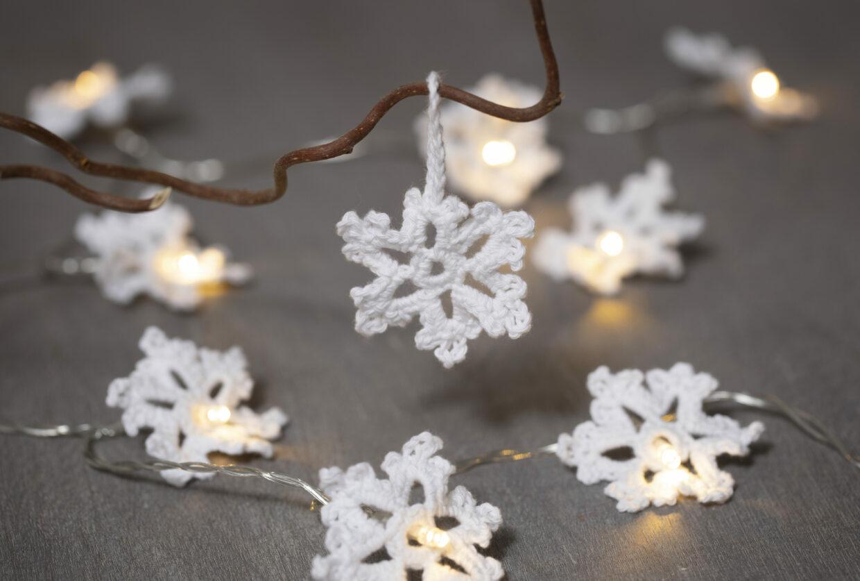 DIY jul med virkade juldekoration, filt, nålfilt och makramé