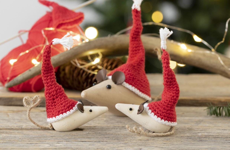 DIY jul med virkade julprodukter, filt, nålfilt och makramé