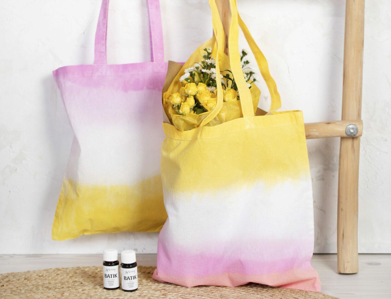 Var kreativ med batik (tie dye), dip dye färger och textildekoration