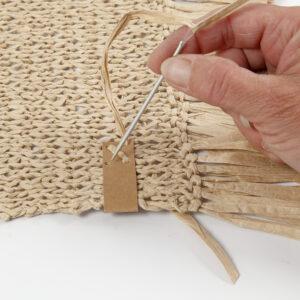 Bæredygtig DIY med raffia og læderpapir