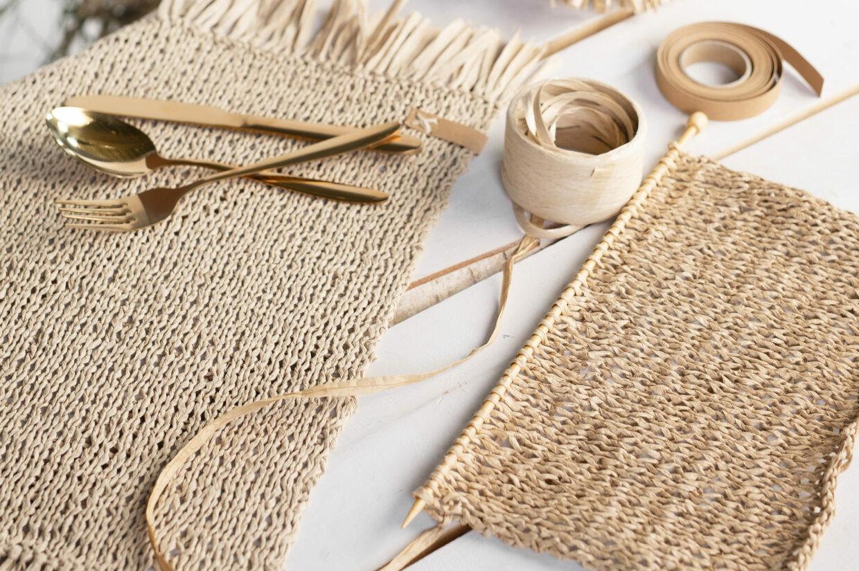 Hållbar DIY med raffia och läderpapper